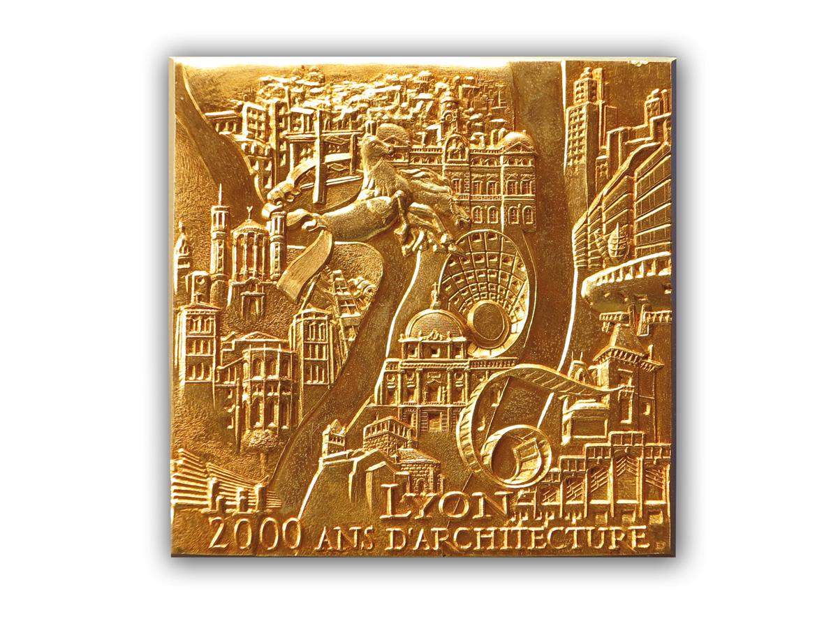 medaille_Patrimoine_Mondial_Lyon_2000_ans_d'architecture