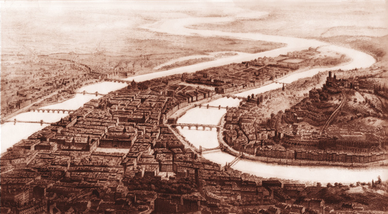 Vue de Lyon bi Guesdon