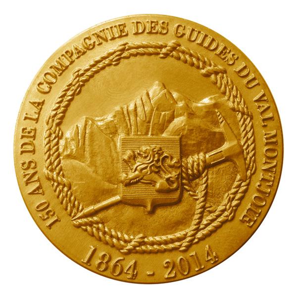 Médaille des 150 ans des Guides de Saint Gervais – Mont Blanc