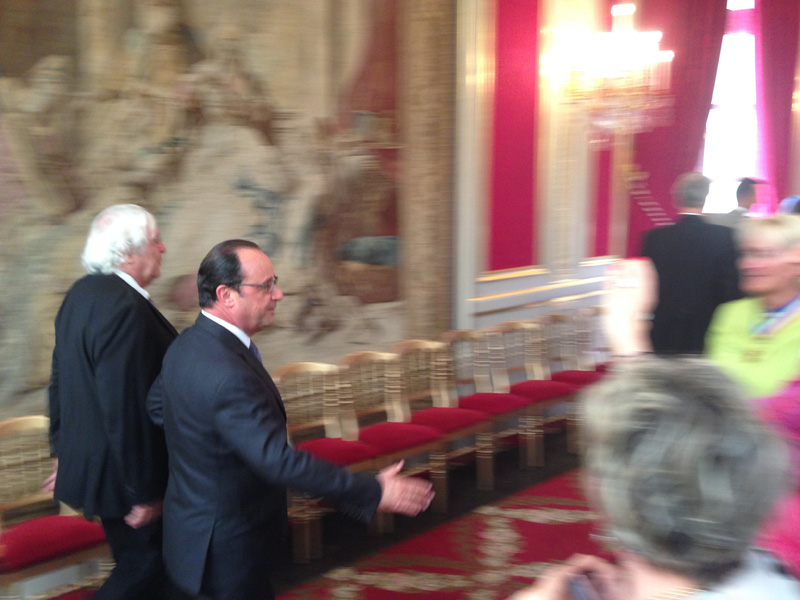 Le Président de la RF François Hollande