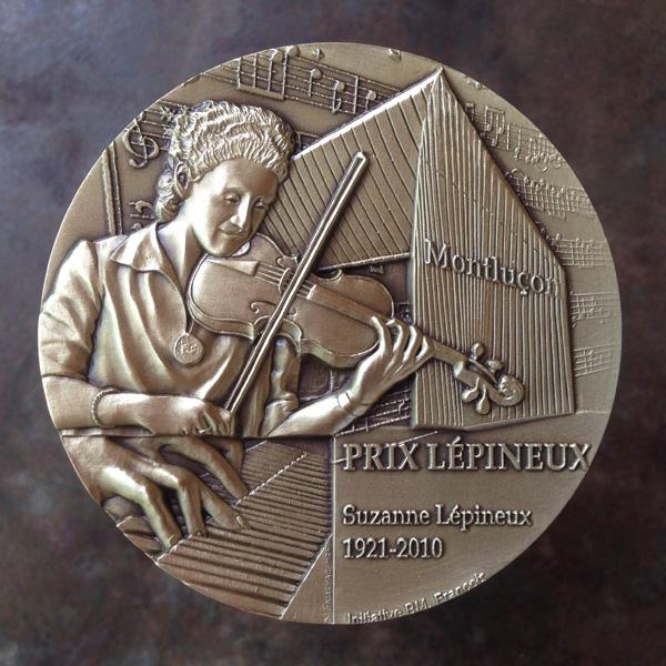 Médaille du Prix Suzanne Lépineux, conservatoire de Montluçon