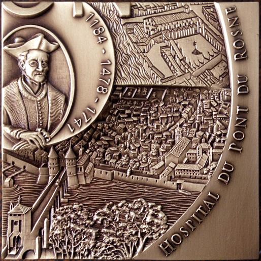 Grand Hôtel-Dieu de Lyon : Hospital du Pont du Rosne – médaille n°1