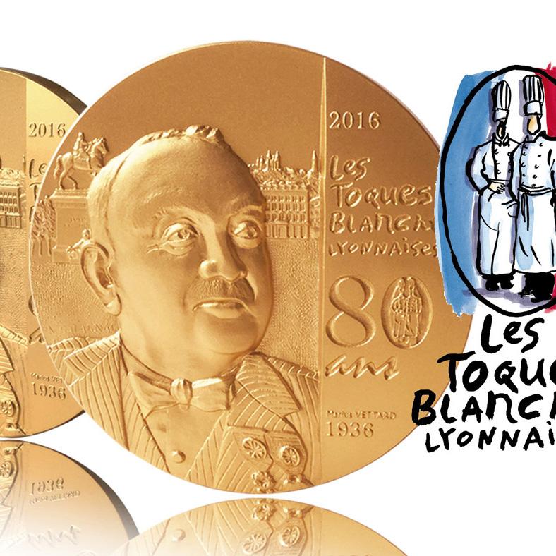 Médaille des 80 ans des Toques Blanches Lyonnaises