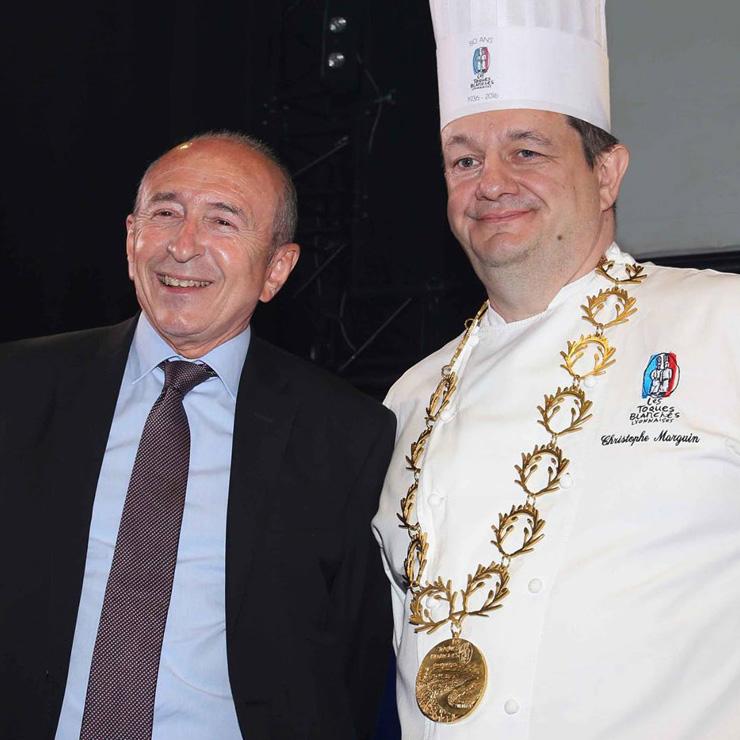 Le collier du Président des Toques Blanches Lyonnaises, Christophe Marguin