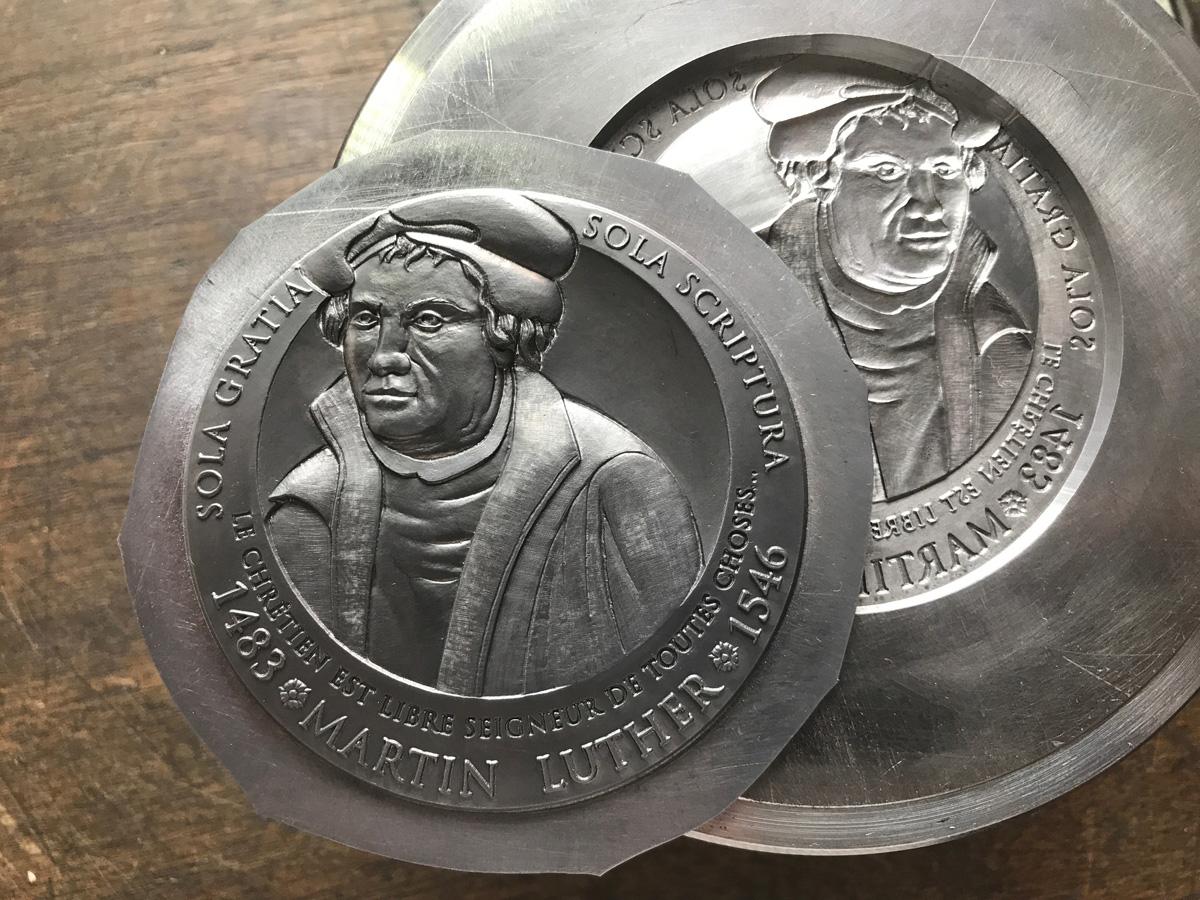 Création médaille des 500 ans de Martin Luther