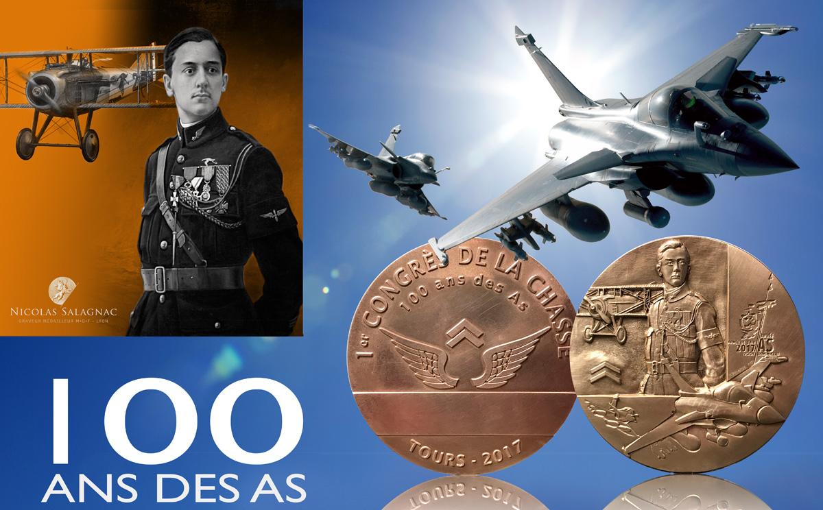 Les 100 ans des As de la Chasse est une médaille de collection, 1917-2017