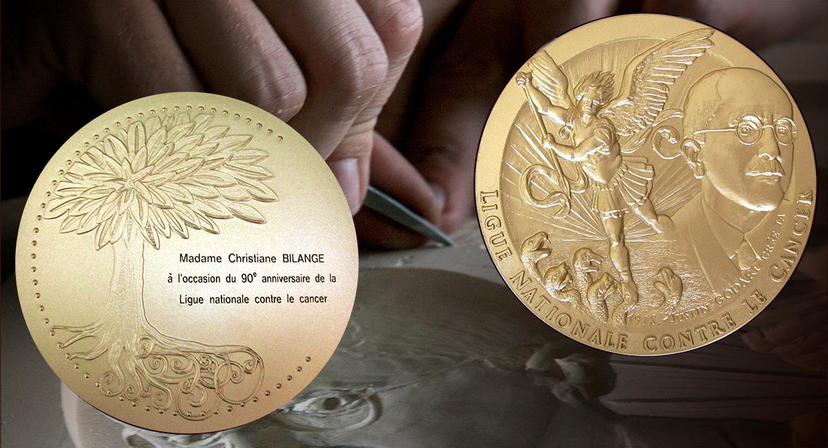 Une médaille pour les 90 ans de la Ligue nationale contre le Cancer