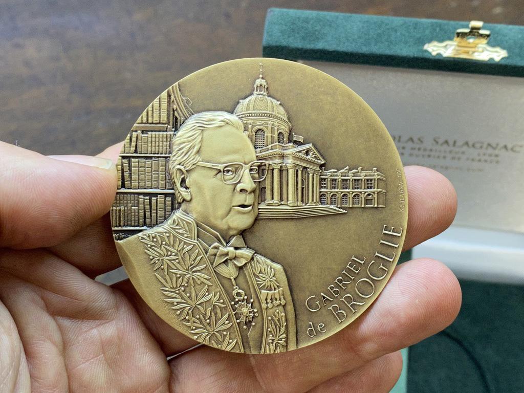 Médaille de Gabriel de BROGLIE – Chancelier honoraire de l'Institut de France