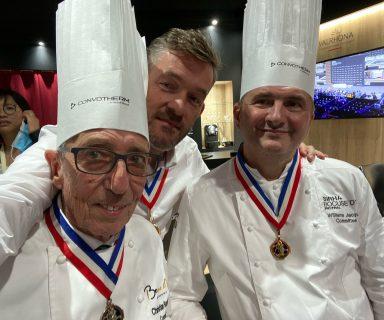 Christian Bourrilot et William Jacquier MOF cuisine et Nicolas Salagnac MOF 2000