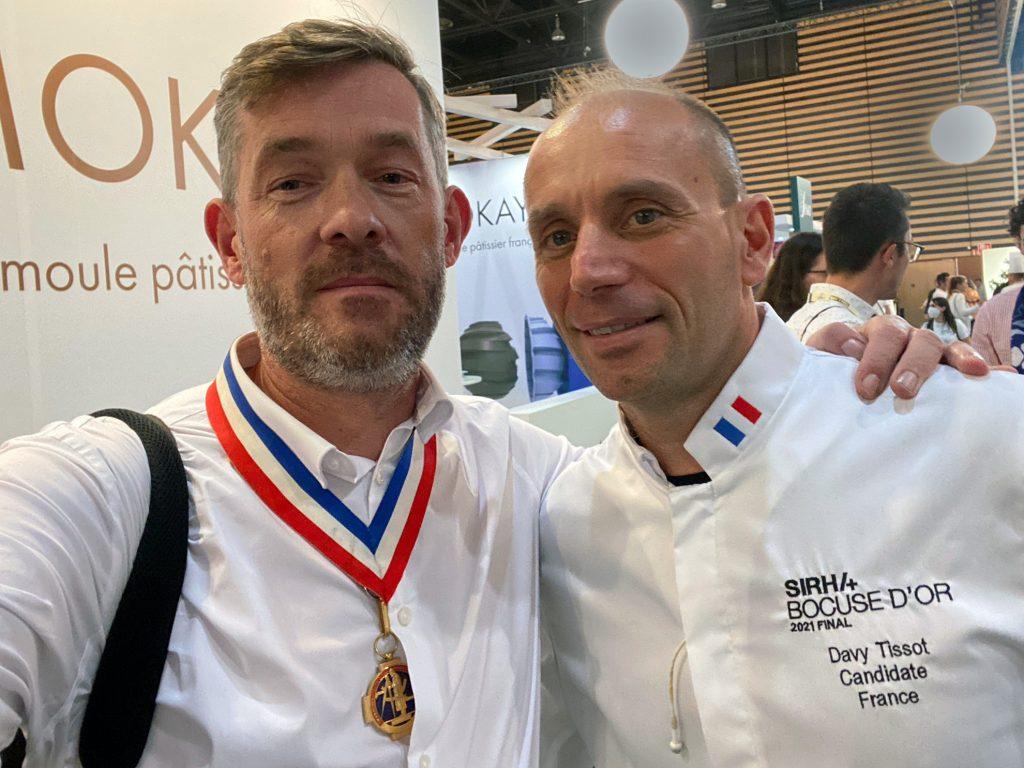 Davy TISSOT MOF 2004 - Bocuse d'or 2021 et Nicolas Salagnac MOF 2000