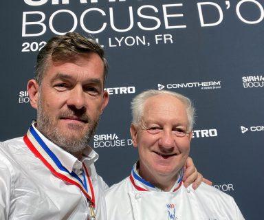 Jean-François Girardin Président SNMOF MOF 1993 et Nicolas Salagnac MOF 2000