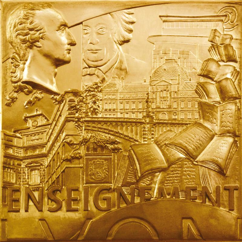 """Médaille sur """" l'Enseignement à Lyon"""", 2012"""