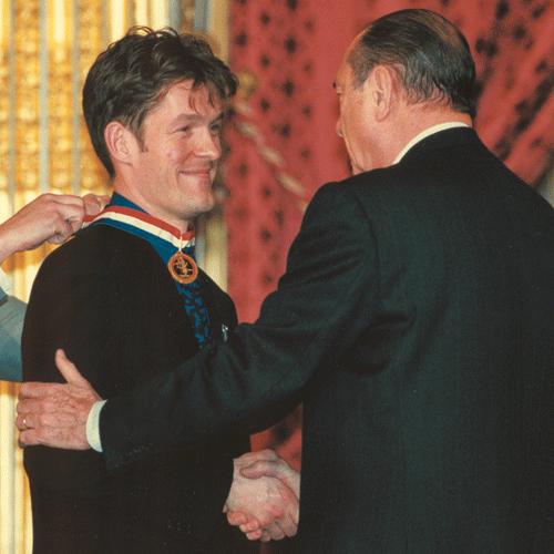 Nicolas Salagnac, lauréat du concours «Un des Meilleurs Ouvriers de France», en 2000